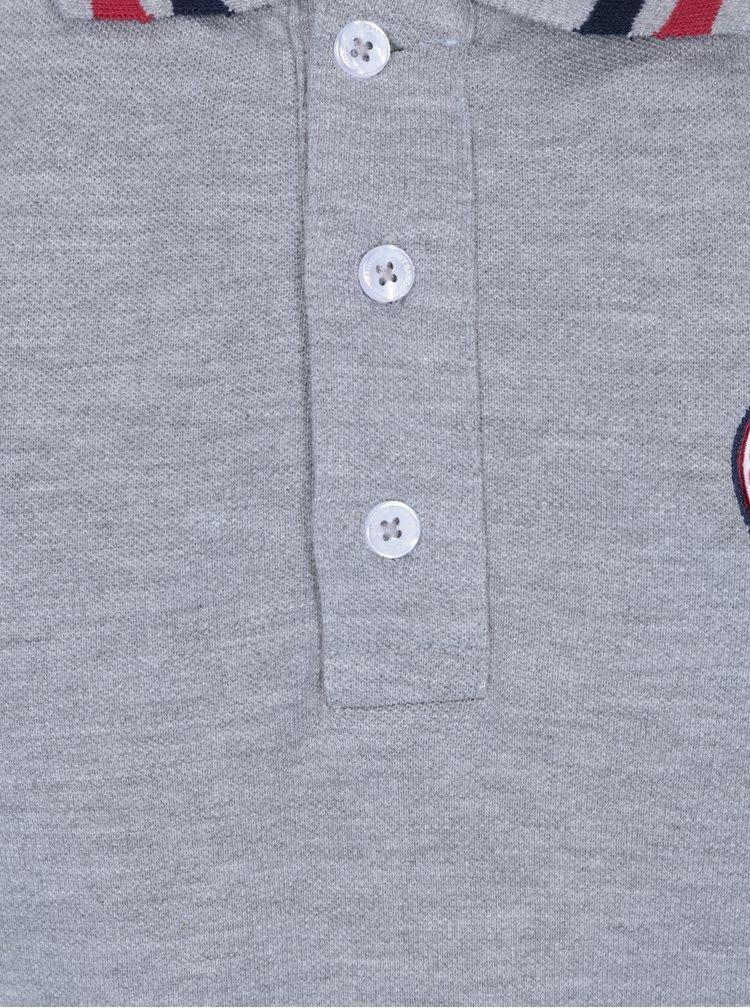 Šedé pánské žíhané polo tričko Jimmy Sanders