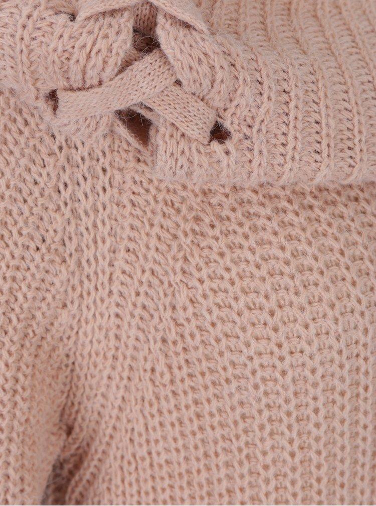 Starorůžový svetr s odhalenými rameny Haily´s Jessy