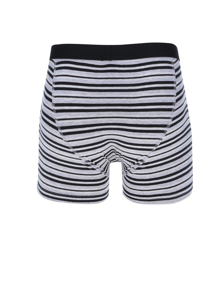 Sada tří vzorovaných boxerek v šedé barvě M&Co