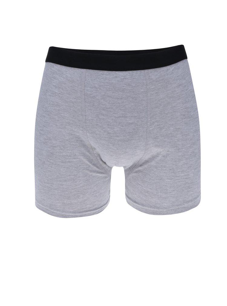 Sada tří boxerek v šedé barvě M&Co