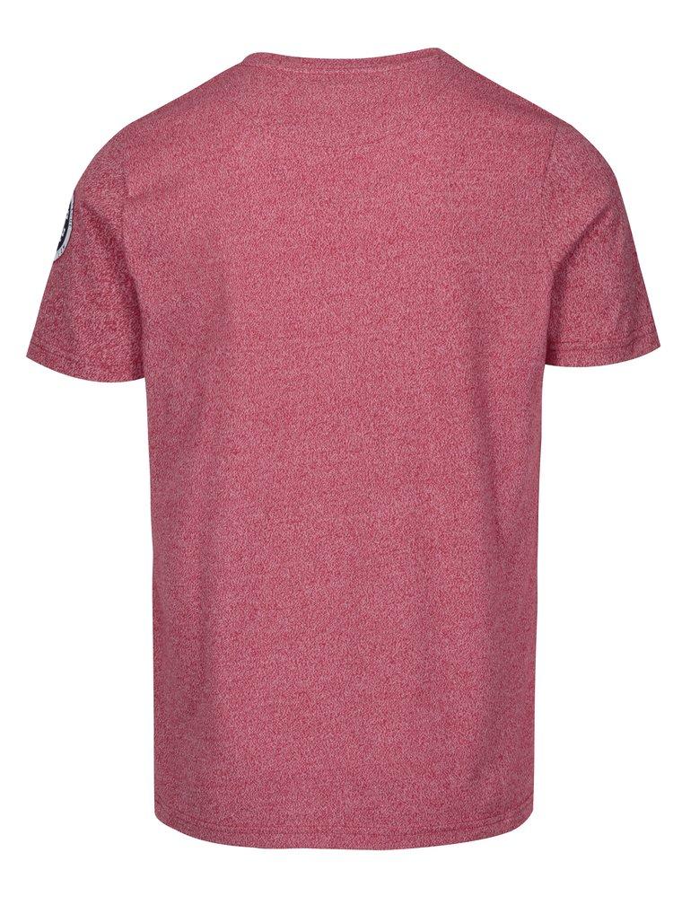 Červené pánské žíhané tričko s potiskem Jimmy Sanders