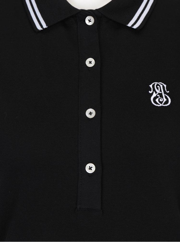 Černé polo šaty bez rukávů Jimmy Sanders