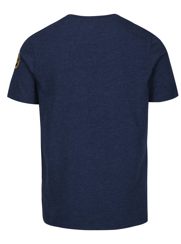 Tmavě modré pánské tričko s potiskem Jimmy Sanders