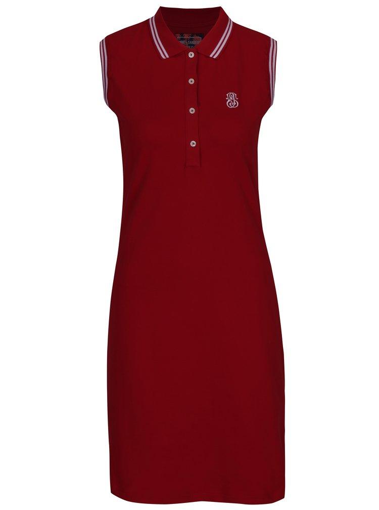 Červené polo šaty bez rukávů Jimmy Sanders