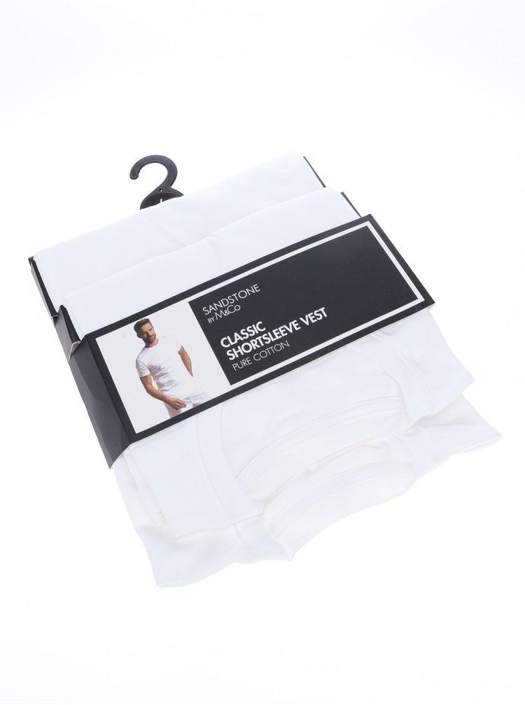 Sada dvou pánských triček pod košili v bílé barvě M&Co