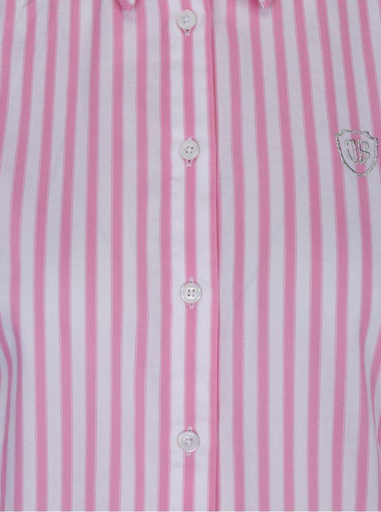 Bílo-růžová dámská pruhovaná košile Jimmy Sanders