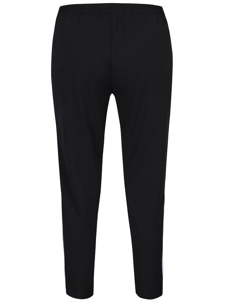 Černé kalhoty s kapsami a pruhy Haily´s Greta