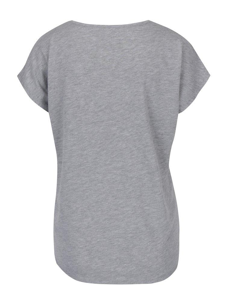 Šedé tričko s potiskem Haily´s Couple