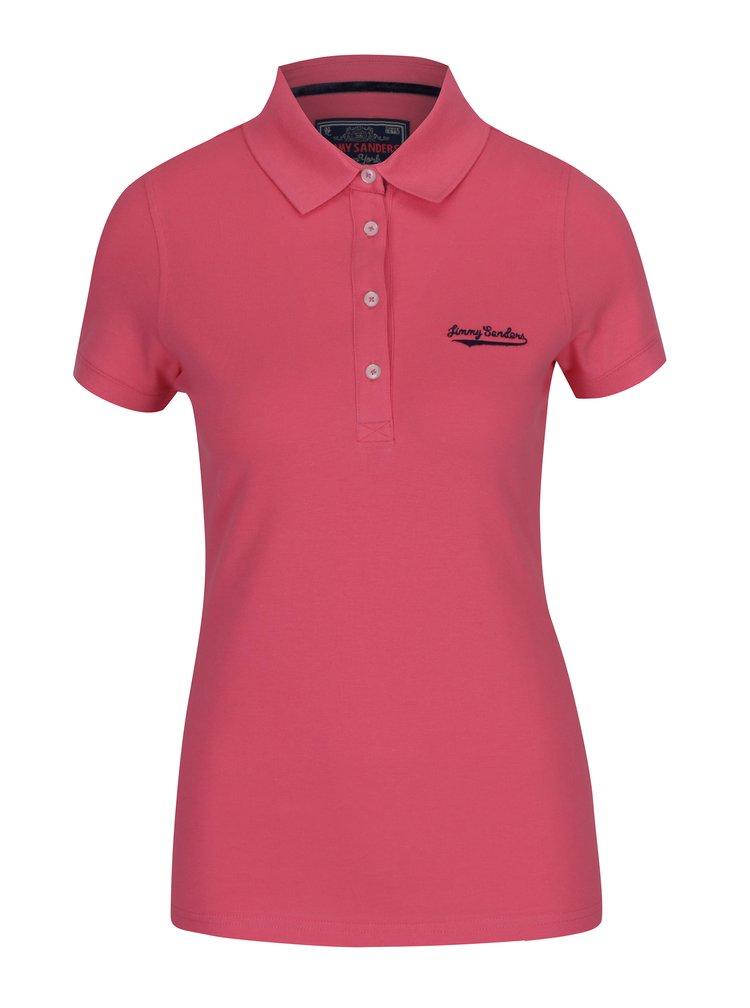 Růžové dámské polo tričko Jimmy Sanders