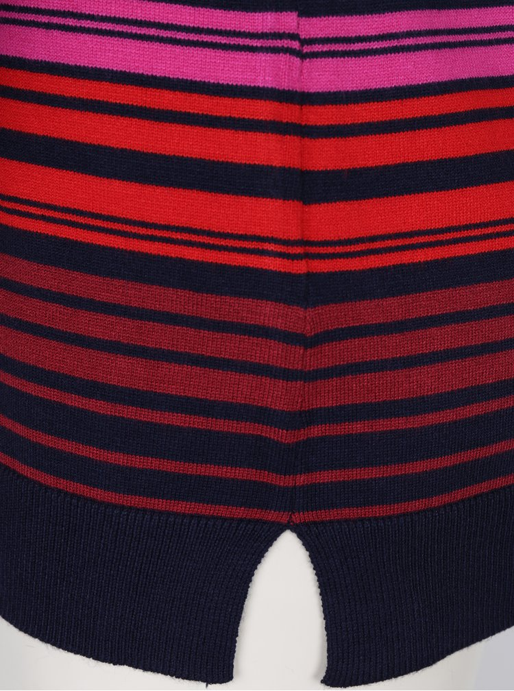 Pulover bleumarin cu dungi si nasturi la spate -  M&Co