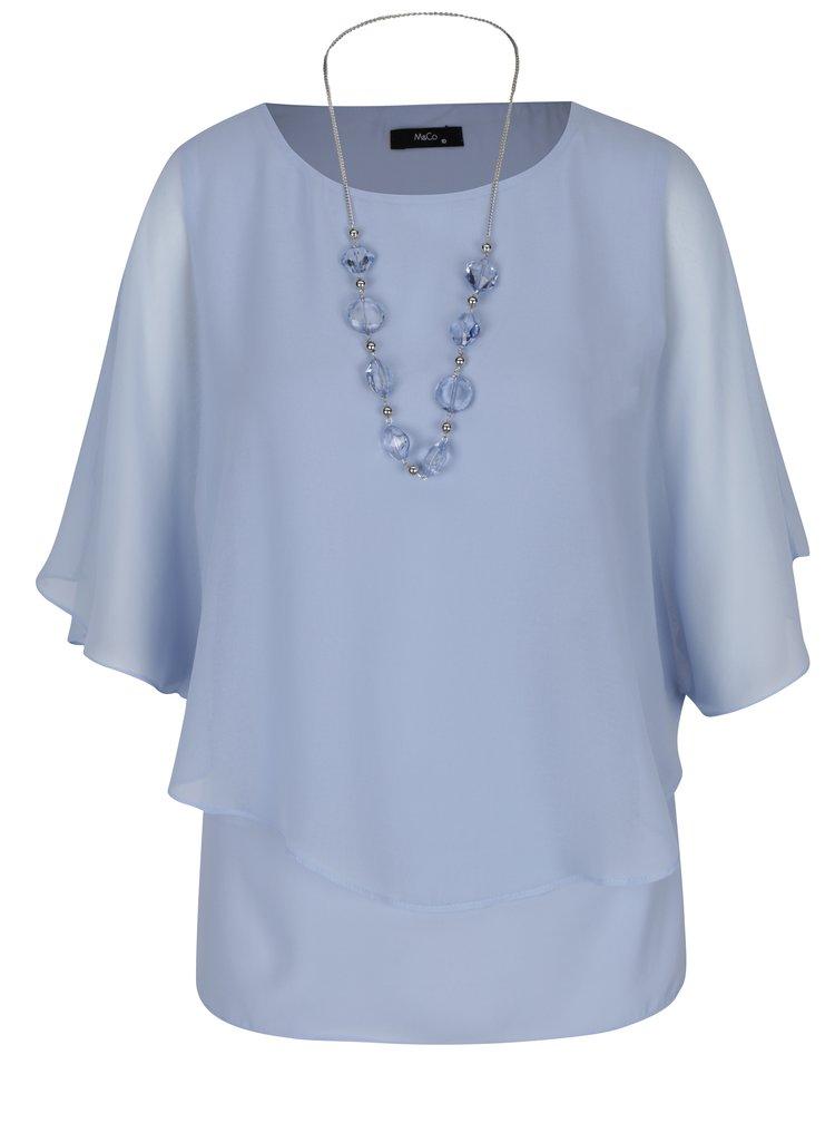 Bluza bleu cu maneci tip liliac -  M&Co
