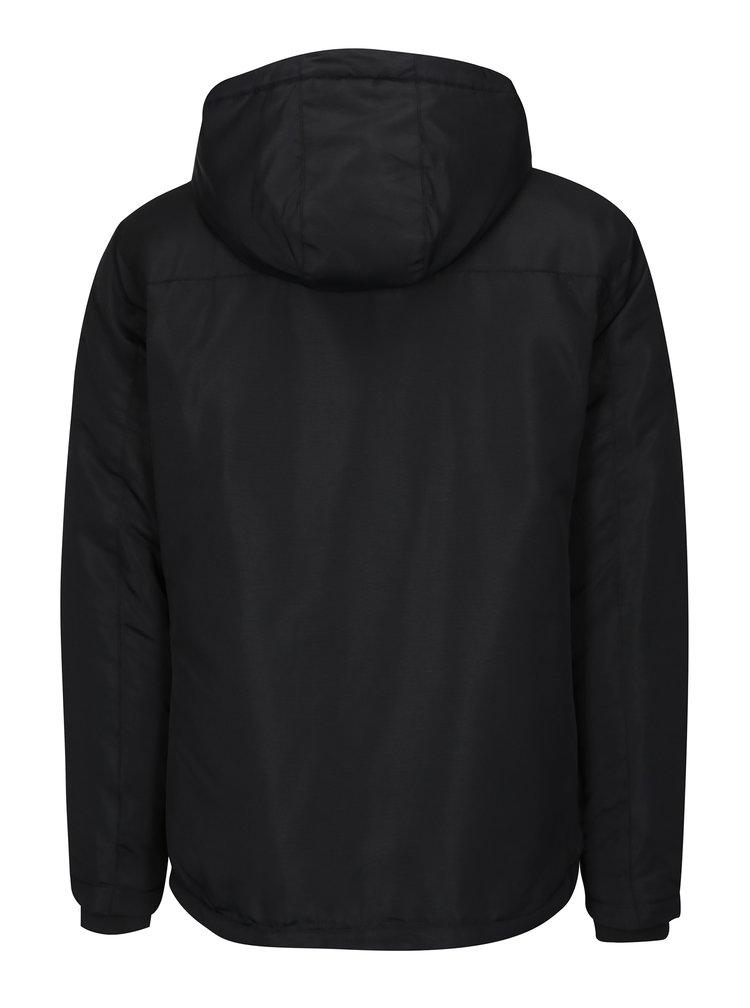 Černá bunda s kapucí Jack & Jones Cool