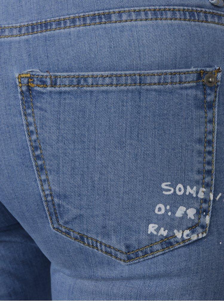 Světle modré dámské skinny džíny s potiskem Jimmy Sanders
