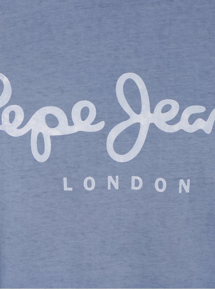 Modré pánské tričko s nápisem Pepe Jeans West Sir II