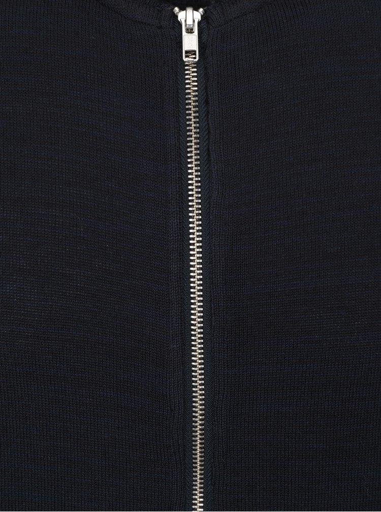 Pulover bleumarin cu fermoar RVLT