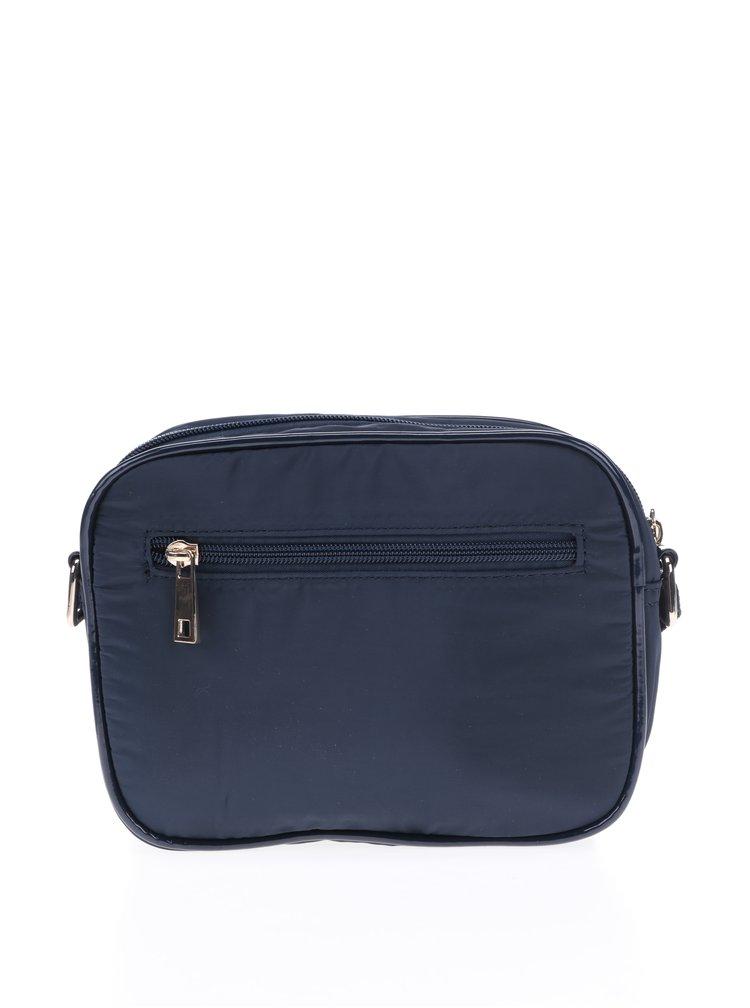 Tmavě modrá prošívaná crossbody kabelka M&Co