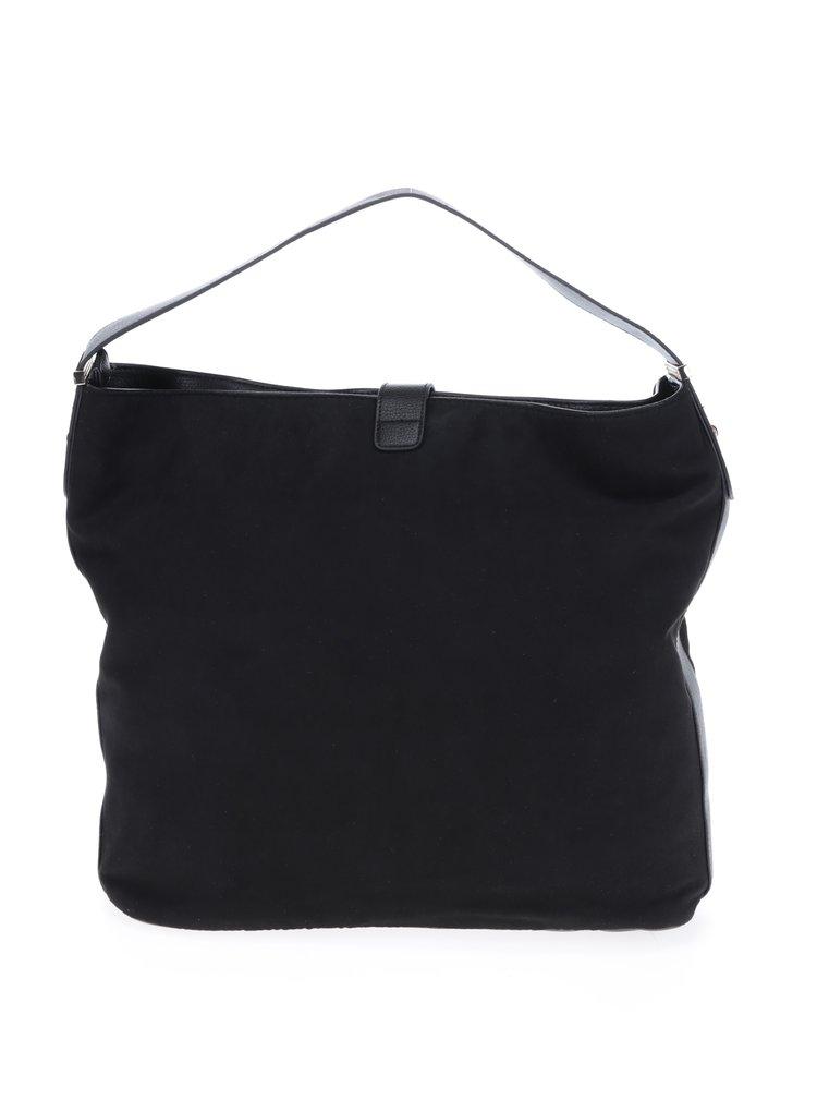 Černá kabelka v semišové úpravě M&Co