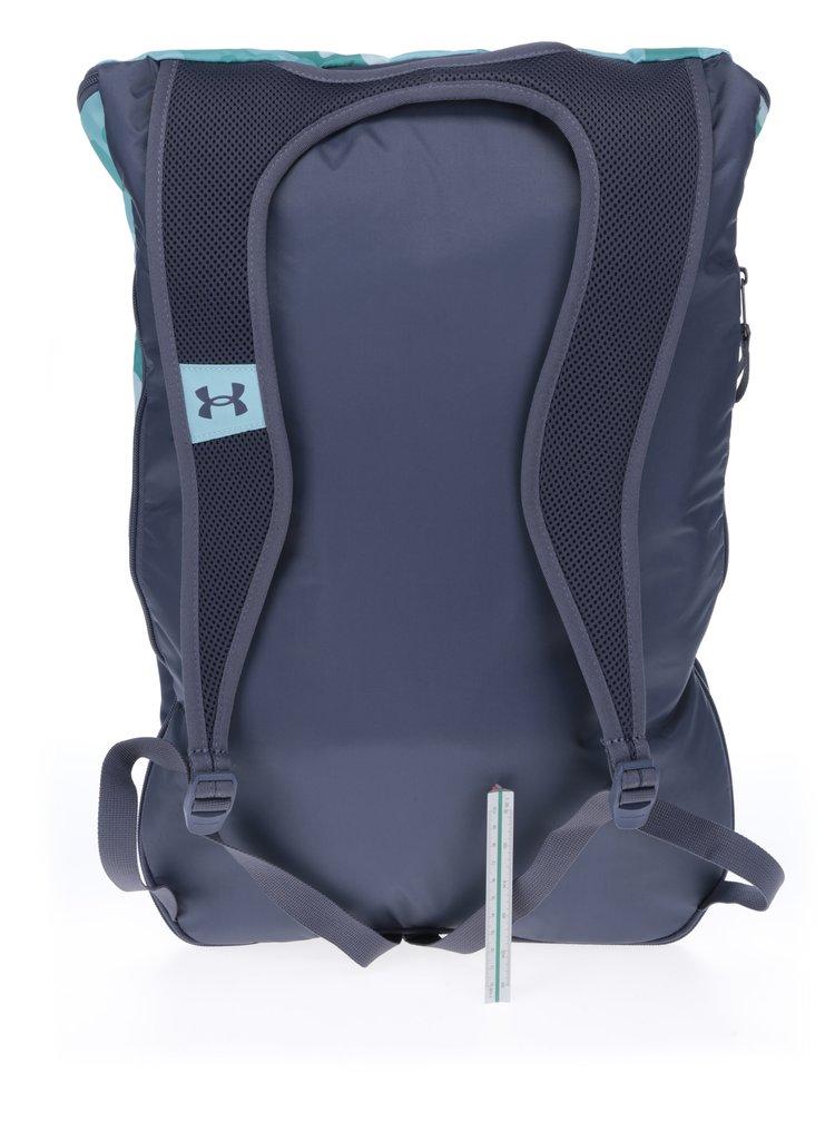Šedo-tyrkysový dámský vzorovaný batoh Under Armour