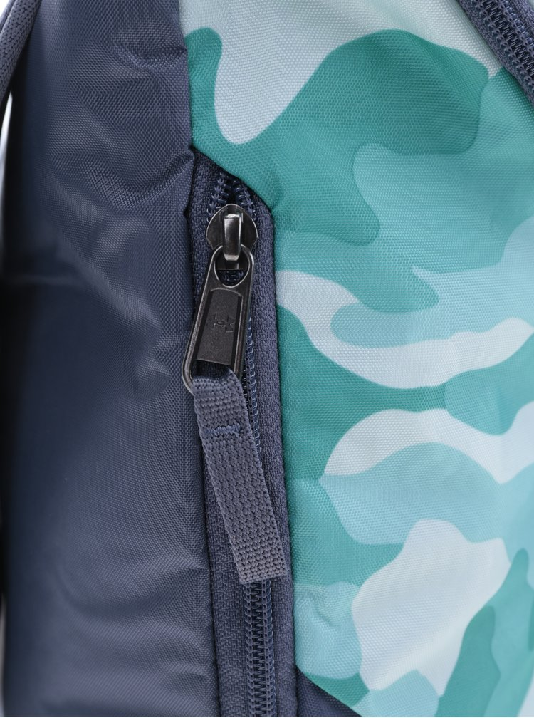 Sivo-tyrkysový dámsky vzorovaný batoh Under Armour