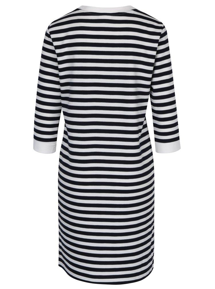 Čierno-krémové pruhované šaty VILA Tinny