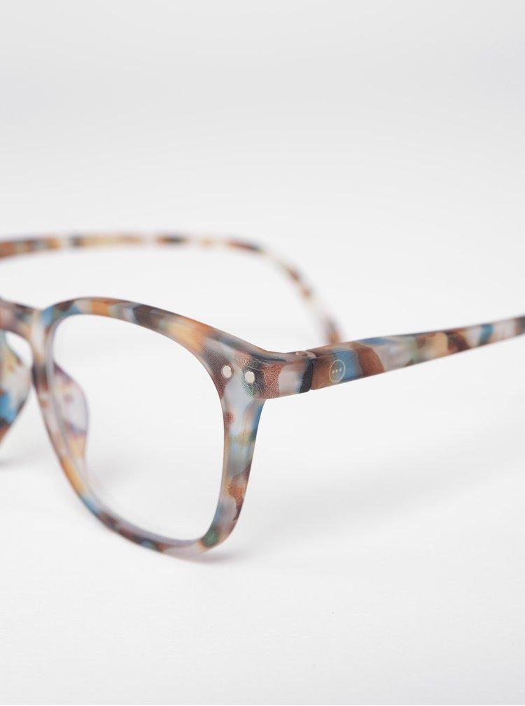 Modro-hnědé dětské maskáčové ochranné brýle k PC IZIPIZI  #E