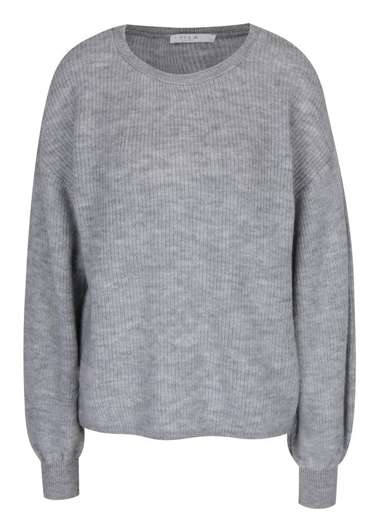 Světle šedý svetr VILA Malango