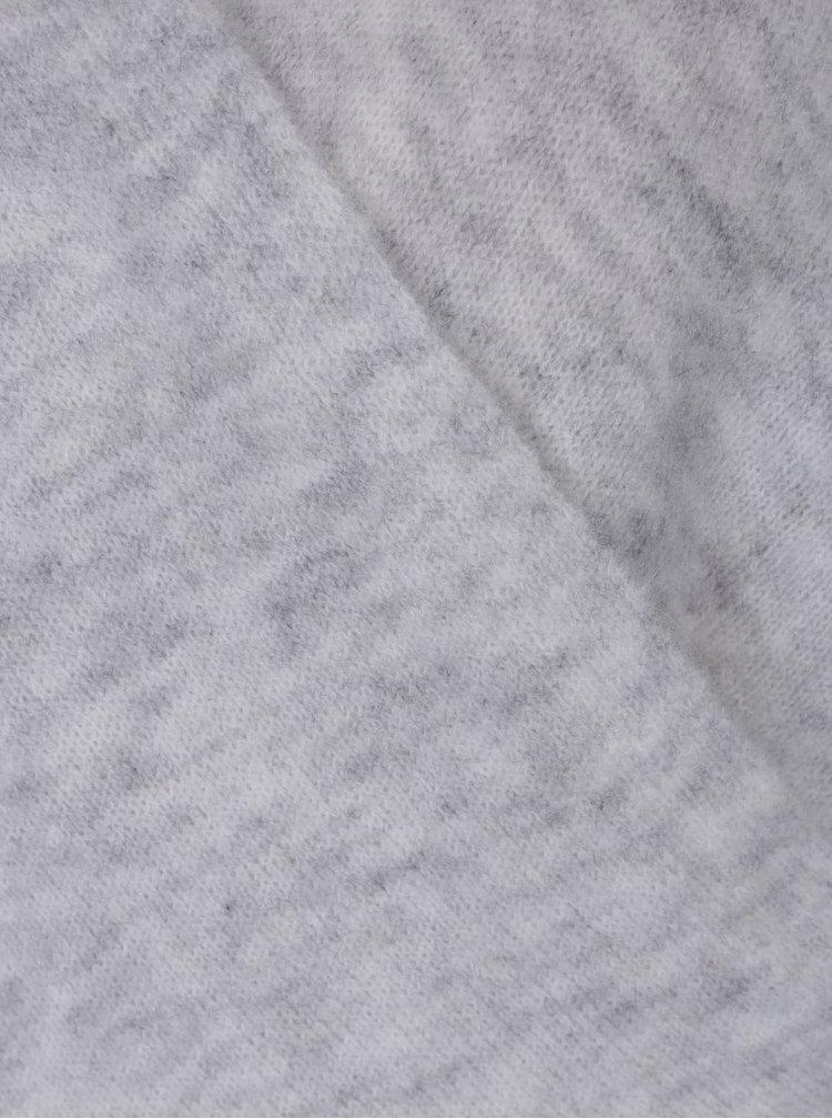 Světle šedý svetr s příměsí mohéru VILA Cant