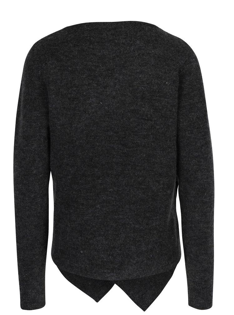 Tmavě šedý svetr s příměsí mohéru VILA Cant