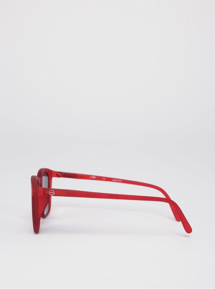 Červené dětské sluneční brýle s tmavými skly IZIPIZI  #E