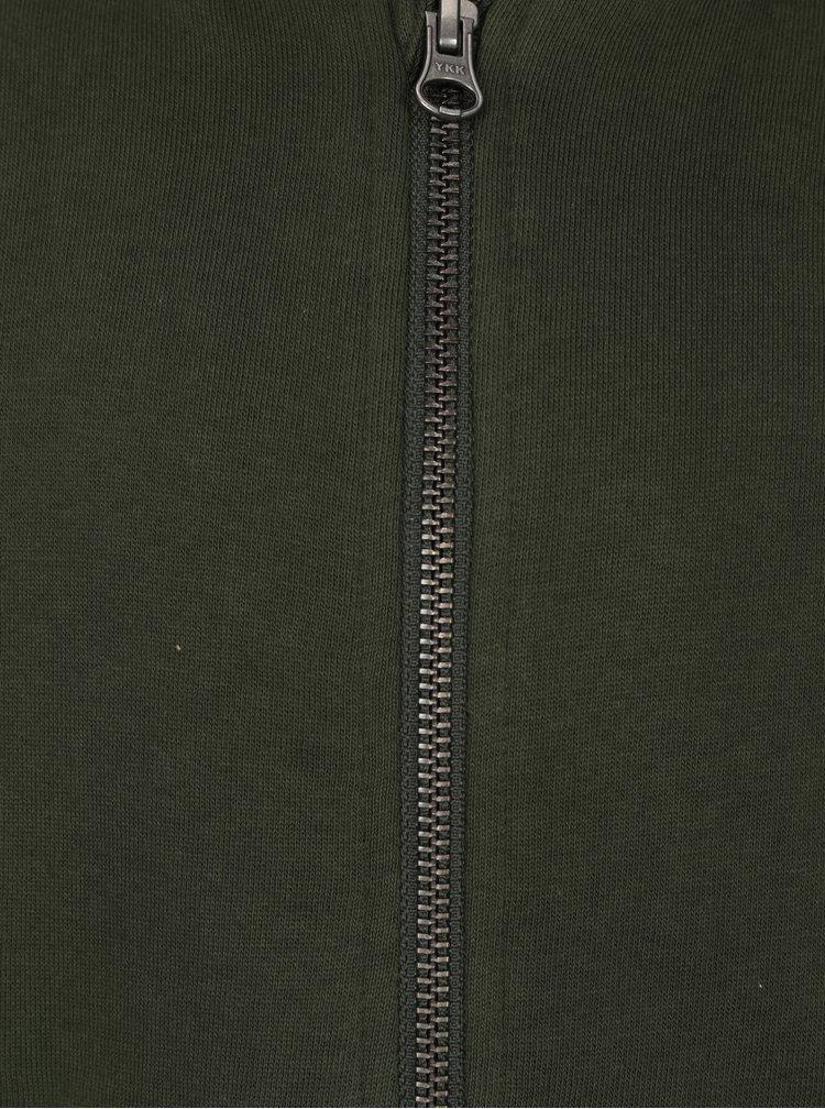 Zelená žíhaná klučičí mikina na zip name it Kalman