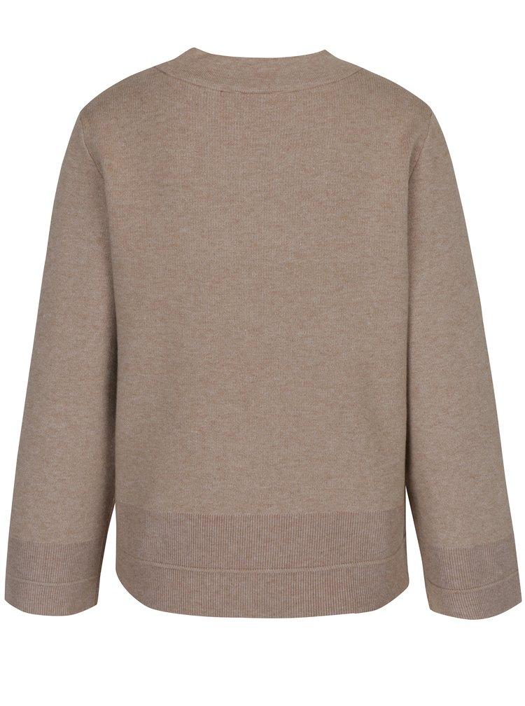 Béžový svetr s širokými rukávy VILA Olivina
