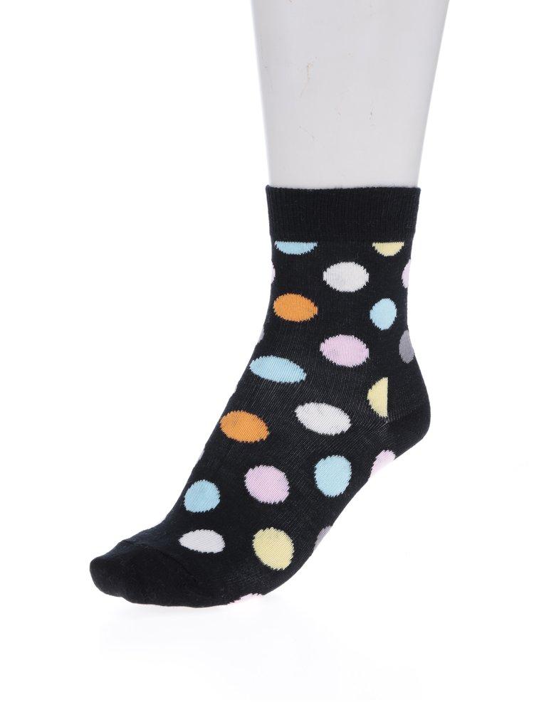 Čierne detské bodkované ponožky Happy Socks Big Dot