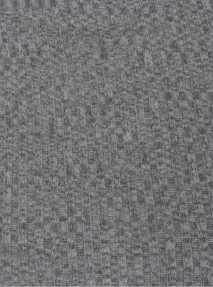Šedý lehký žebrovaný žíhaný svetr Jacqueline de Yong Mei