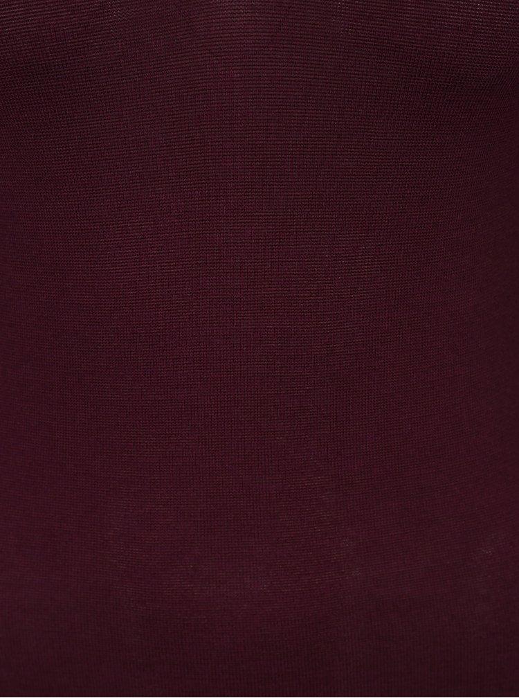 Vínový svetr s pásky v dekoltu TALLY WEiJL