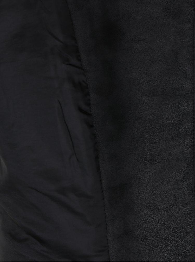 Jacheta biker neagra cu revere si catarame - ONLY Rush