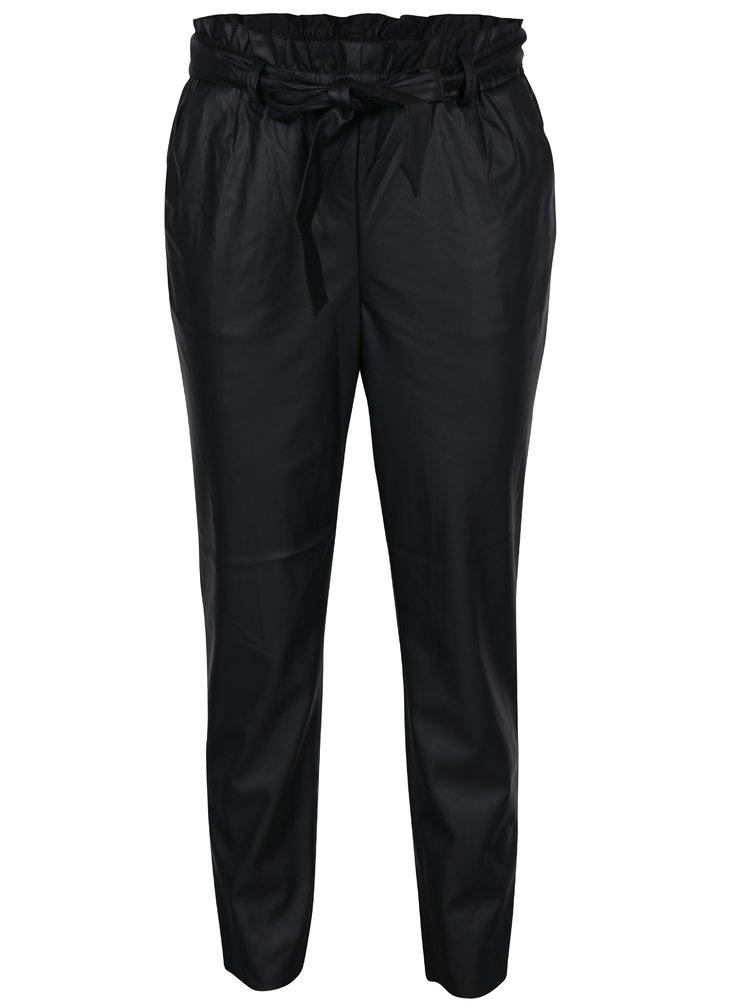 Černé koženkové kalhoty VILA Anja