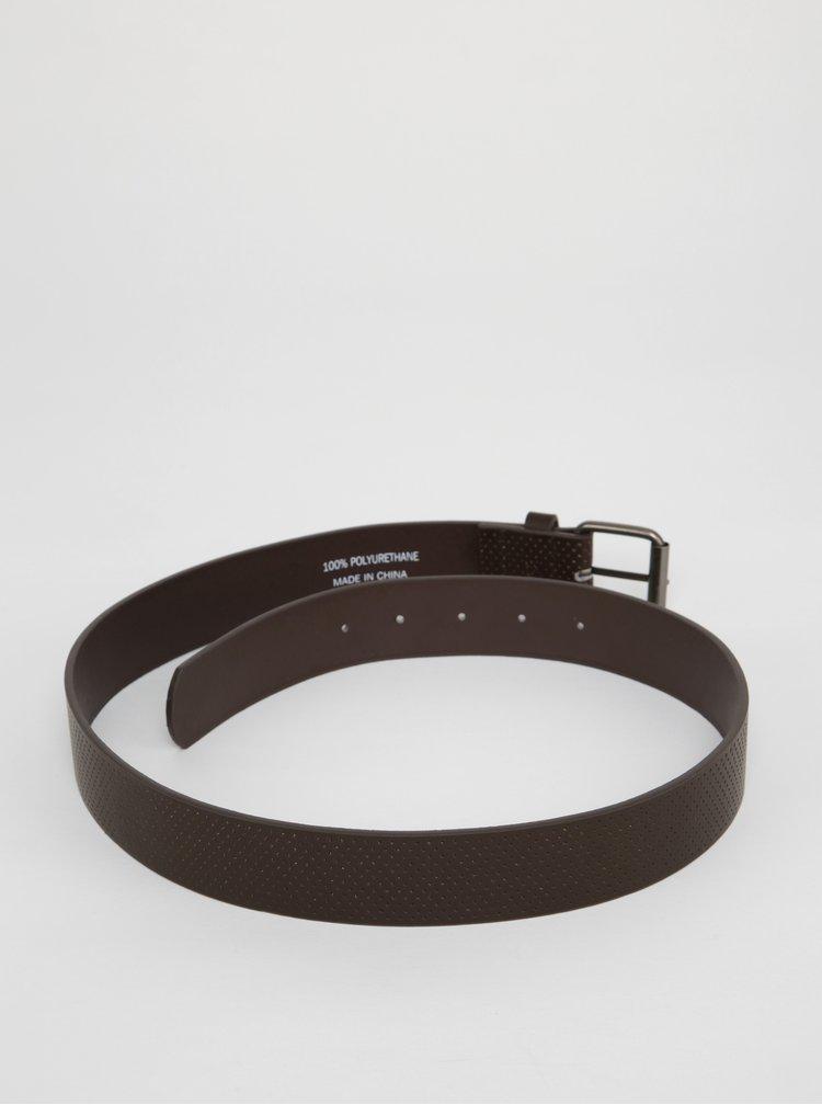 Tmavě hnědý pásek s jemným vzorem Blend