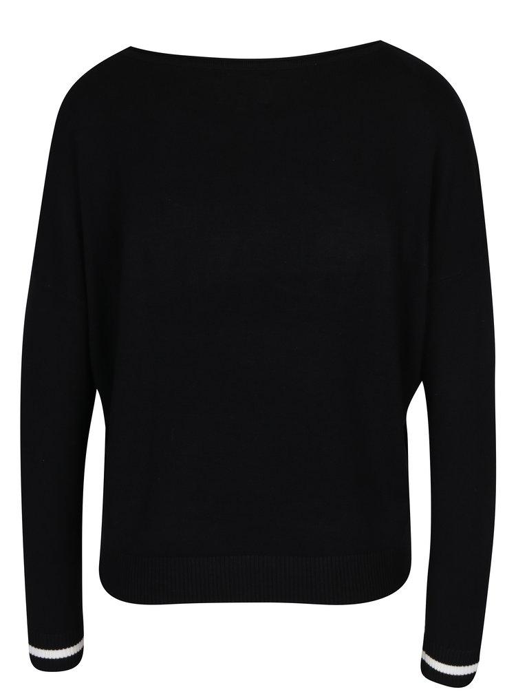 Černý svetr s nášivkou ONLY Sonja