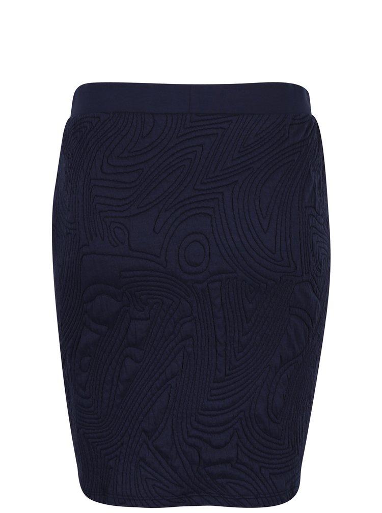 Tmavě modrá pouzdrová sukně s 3D vzorem Jacqueline de Yong Wilder