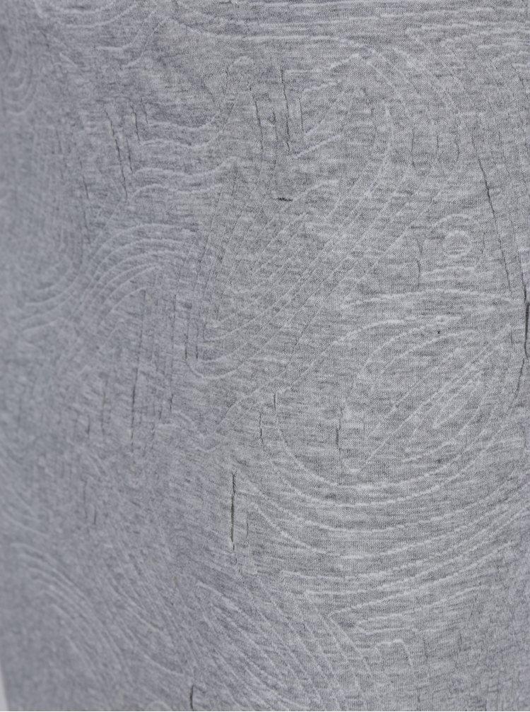 Šedá pouzdrová sukně s 3D vzorem Jacqueline de Yong Wilder