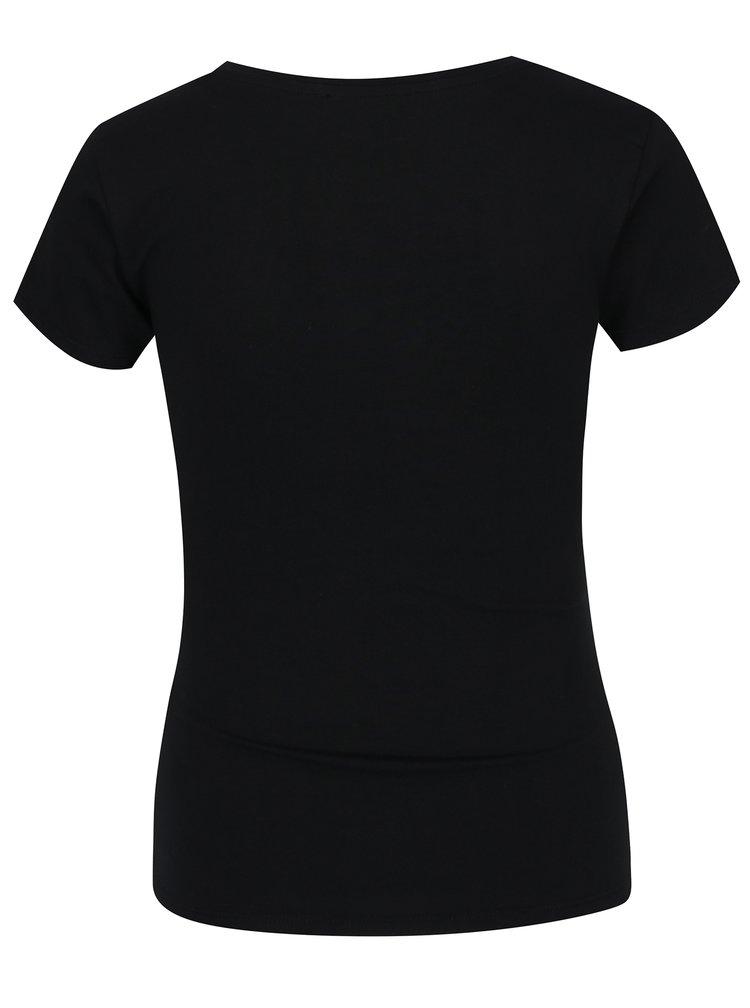 Tricou negru tip corset cu șnur în talie - TALLY WEiJL