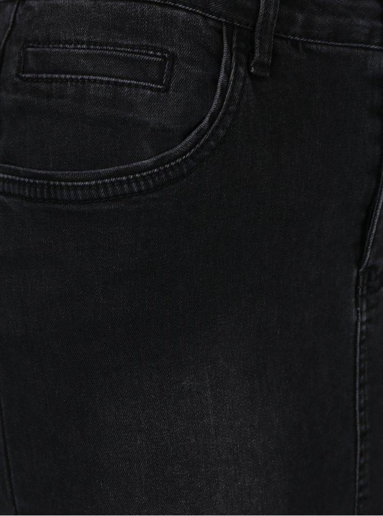 Černá džínová sukně VILA Barcher