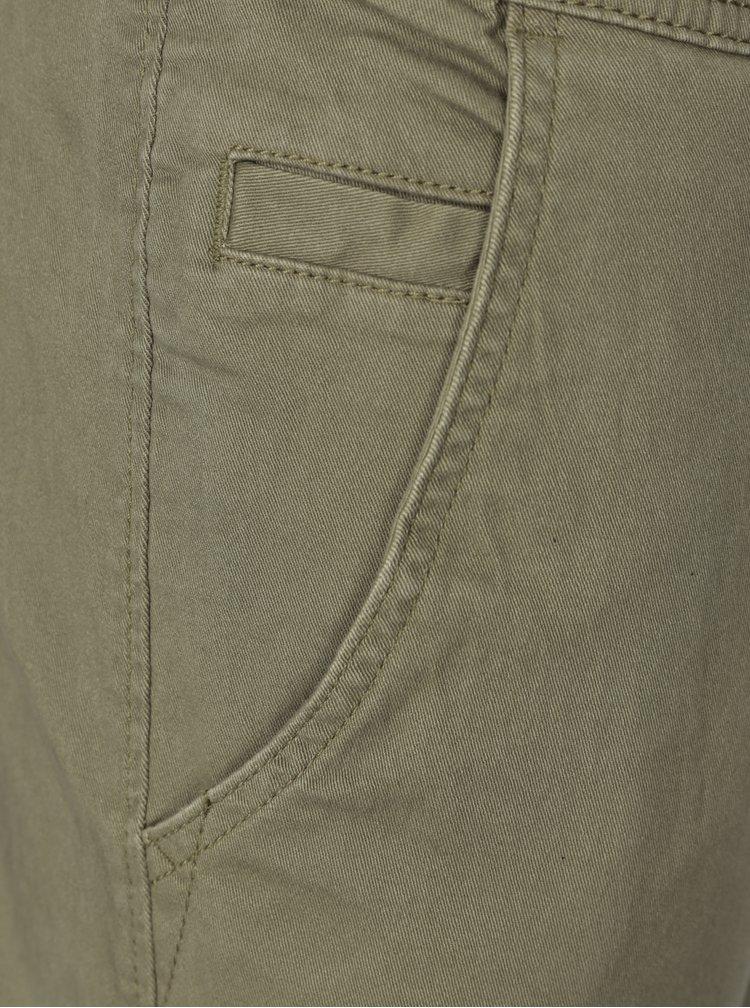 Khaki slim fit kalhoty s kapsami Blend