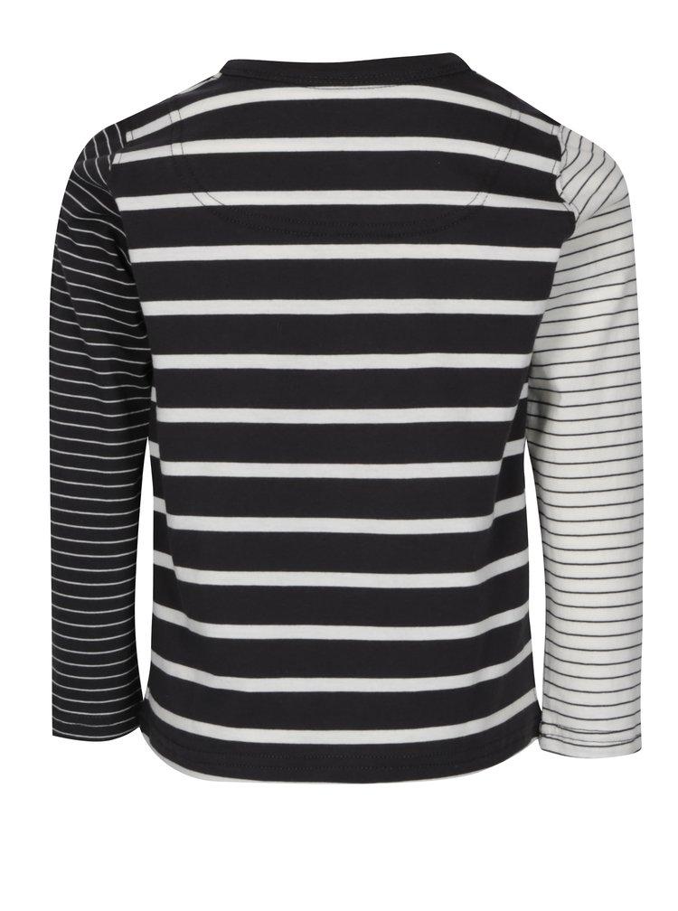 Krémovo-čierne pruhované chlapčenské tričko Tom Joule Oscar