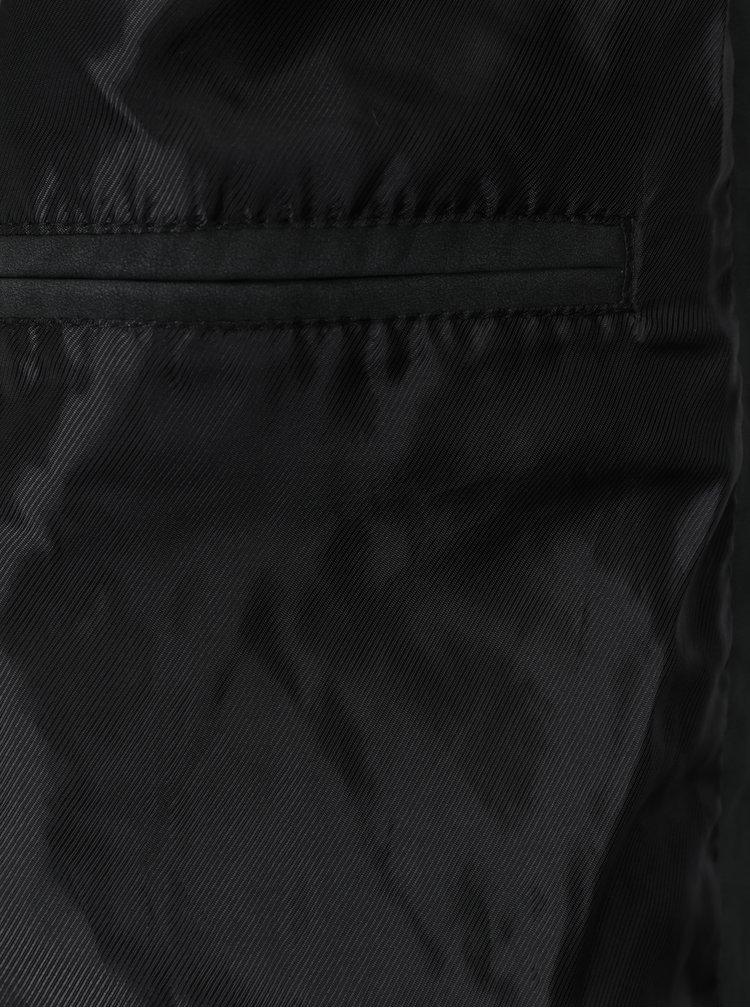 Černý pánský koženkový bomber Blend