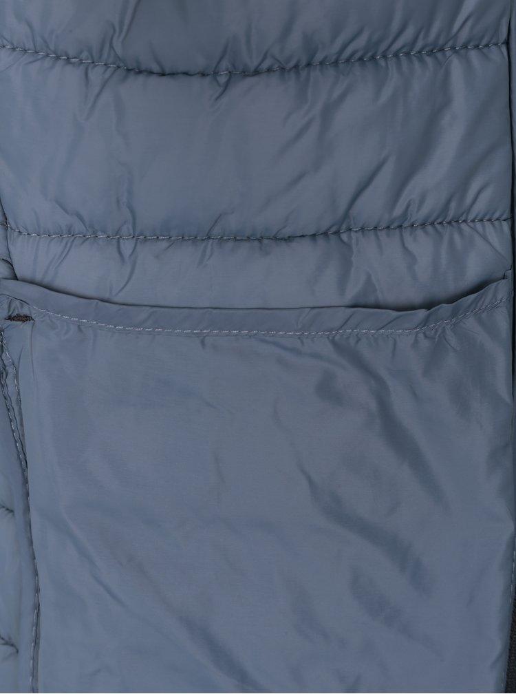 Šedá prošívaná bunda s kapsami Blend