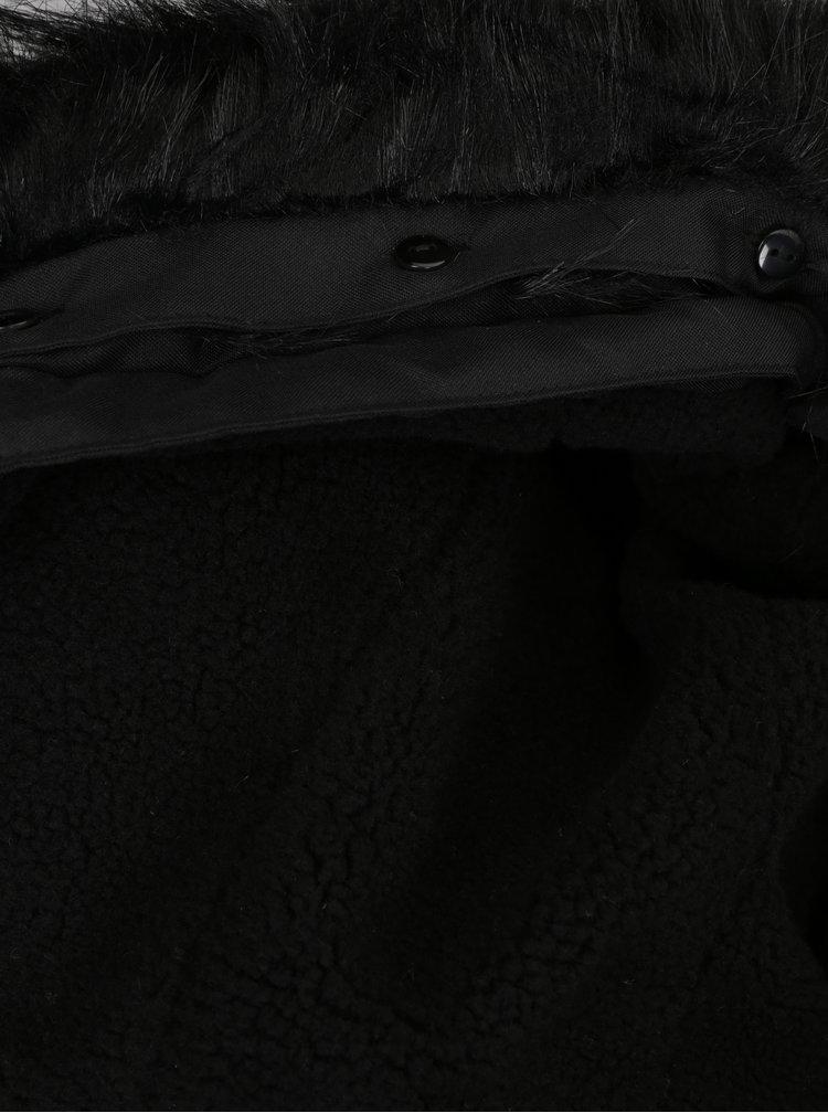 Jacheta parka neagra cu blana ONLY & SONS Eskil