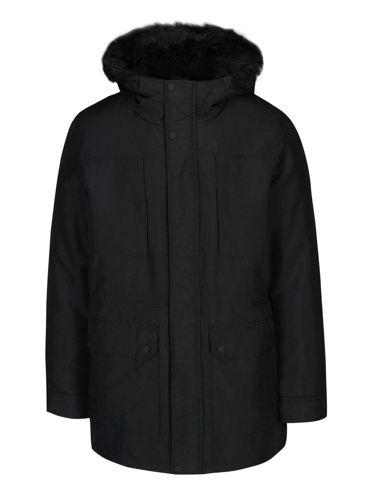 Jachetă parka neagră cu blană ONLY & SONS Eskil