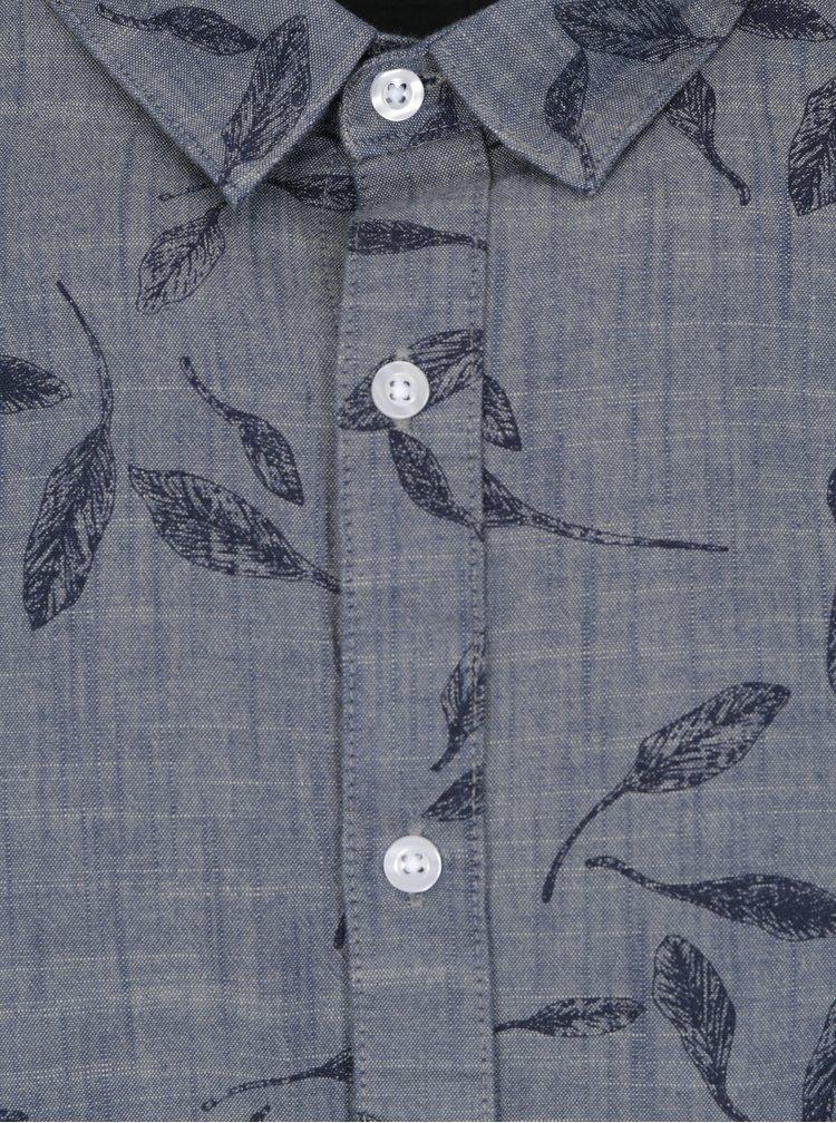 Tmavě modrá vzorovaná džínová košile ONLY & SONS Garvin