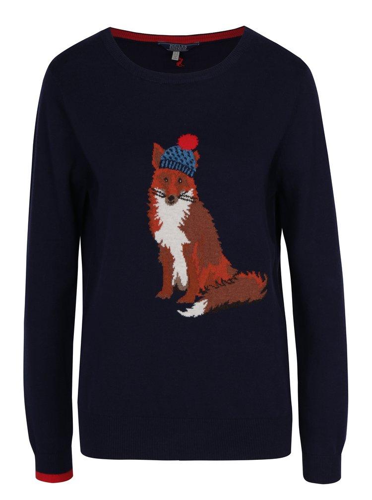 Tmavě modrý dámský svetr s liškou Tom Joule Miranda